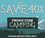 Save with promo code CAMPING